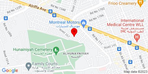 Google Map of 26.125129,50.559048