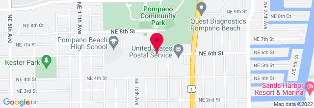 Map for Pompano Beach Amphitheater