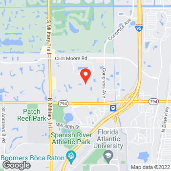 Map of Canon Solutions America at 5600 Broken Sound Blvd, Boca Raton, FL 33487