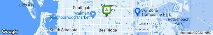 Map of Peach's Restaurant