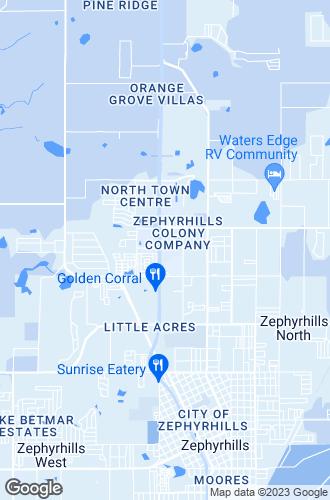Map of Zephyrhills