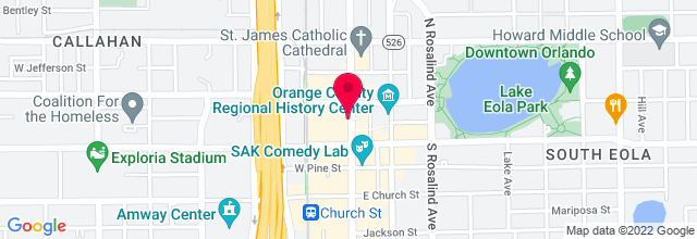 Map for Beacham Theatre