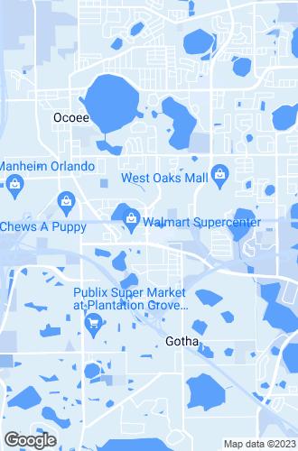 Map of Ocoee