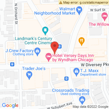Google Map of 2806 N Clark St Chicago, IL 60657