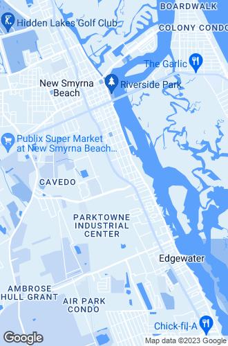 Map of New Smyrna Beach