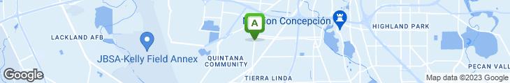 Map of Alamo Pizza