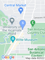 University of the Incarnate Word map