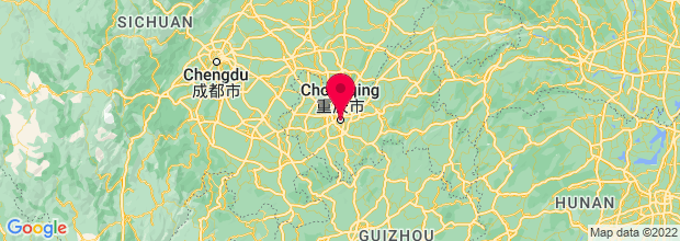Map of Chongqing, China