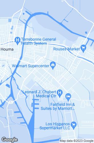 Map of Houma