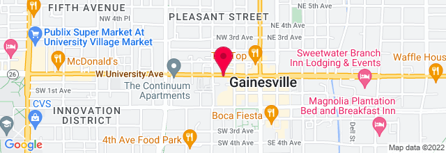 Map for Florida Theater - Gainesville