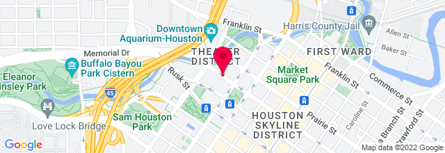 Map for Brown Theater, Wortham Center