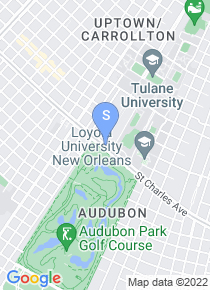 Tulane University of Louisiana map