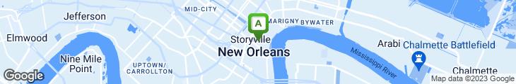Map of Tony Moran's Restaurant
