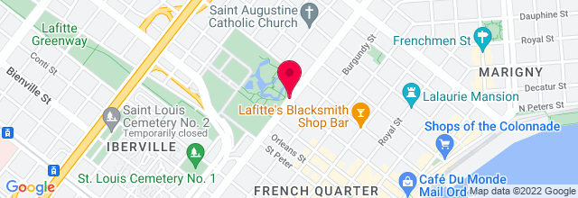 Map for Louis Armstrong Park