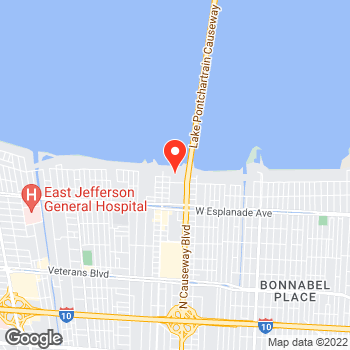 Map of Canon Solutions America at 3850 N. Causway Blvd., Metairie, LA 70002