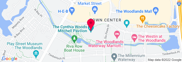 Map for Cynthia Woods Mitchell Pavilion