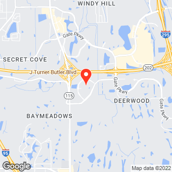 Map of Canon Solutions America at 10401 Deerwood Park Blvd., Jacksonville, FL 32256