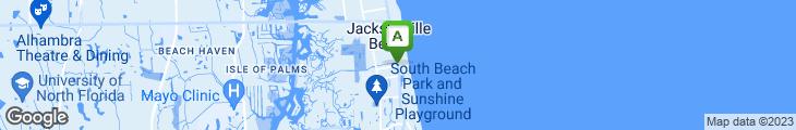 Map of Beach Hut Cafe