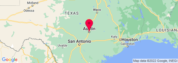 Map of Austin, TX, US