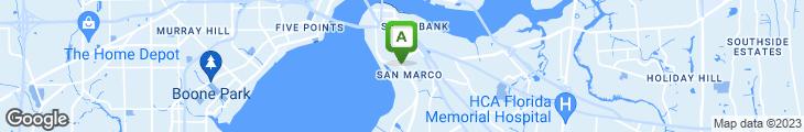 Map of Sushi Rock Cafe