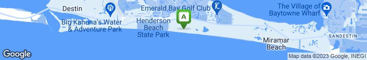 Map of Beach Walk Crystal Beach
