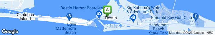 Map of Dewey Destin's Seafood