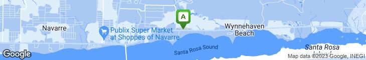 Map of The Rib Shack Of Navarre