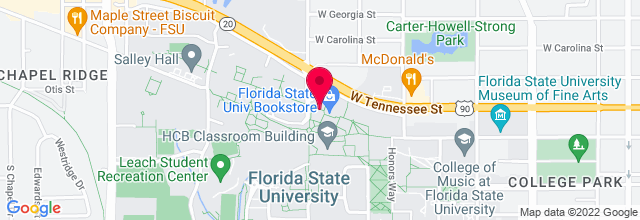Map for Club Downunder, Florida State University