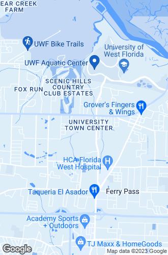 Map of Pensacola