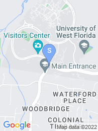 University of West Florida map