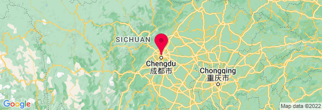 Map of Chengdu, China
