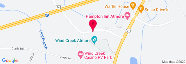 Map for Wind Creek Casino and Hotel