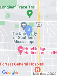 University of Southern Mississippi map