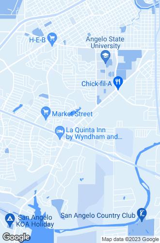 Map of San Angelo