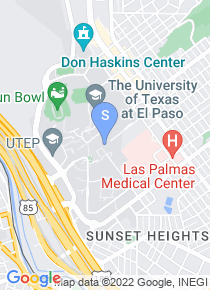University of Texas El Paso map