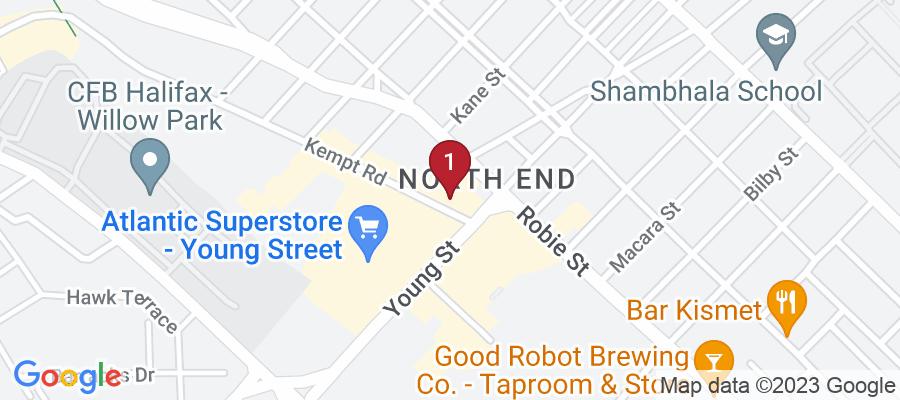 Google Map of 3117 Kempt Rd, Halifax, Canada
