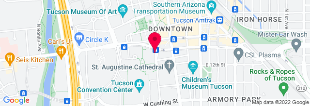 Map for Tucson Music Hall
