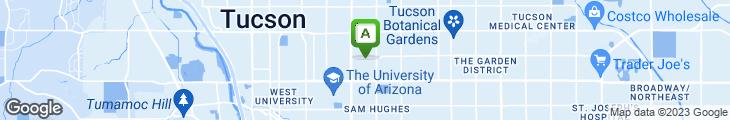 Map of Arizona Inn - The Main Dining Room