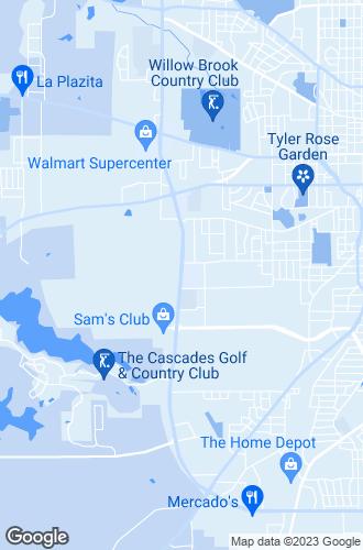 Map of Tyler