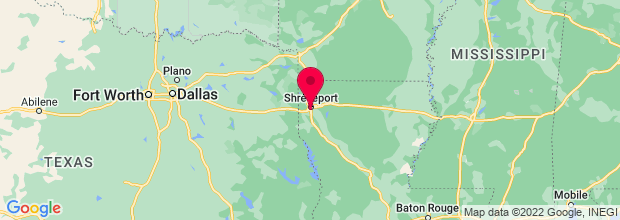 Map of Shreveport, LA, US