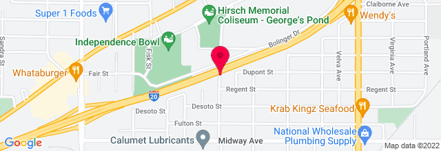 Map for Hirsch Memorial Coliseum