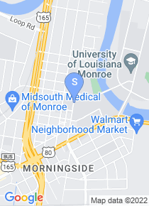 University of Louisiana Monroe map