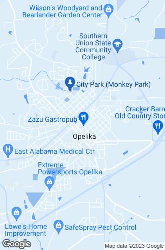 Map of Opelika