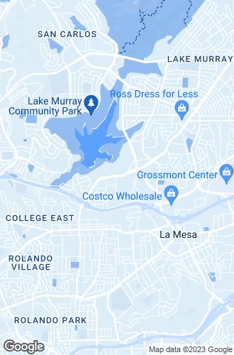 Map of La Mesa
