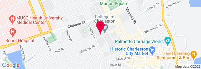 Map for College of Charleston