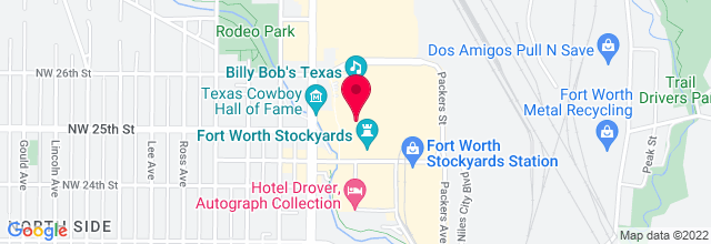 Map for Billy Bob's Texas