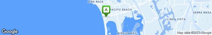 Map of Bahia Don Bravo Pacific Beach