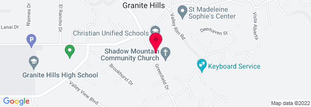 Map for Shadow Mountain Community Church