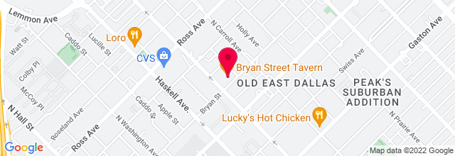 Map for Bryan St. Tavern