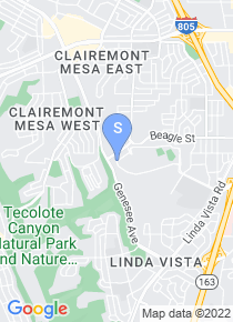 San Diego Mesa College map